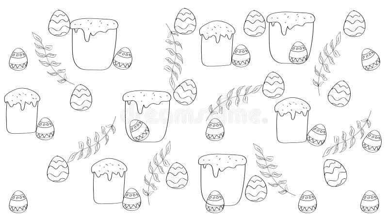 Ejemplo linear de Pascua stock de ilustración