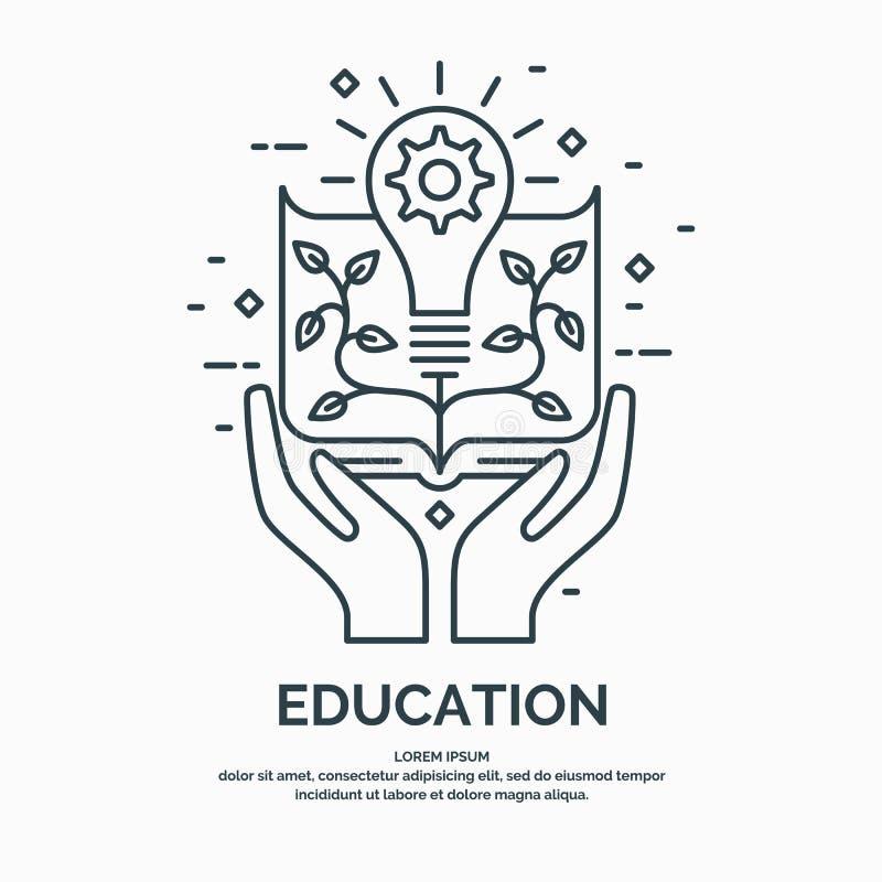 Ejemplo linear moderno en el tema de la educación libre illustration
