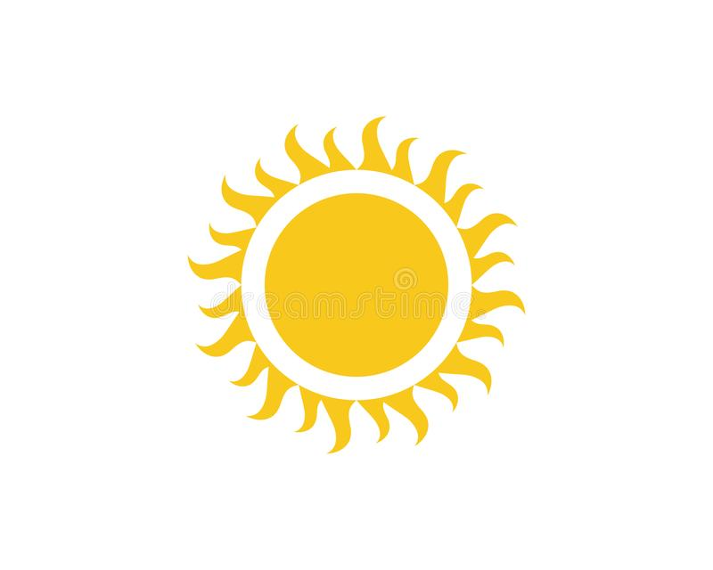 Ejemplo Logo Template de Sun stock de ilustración