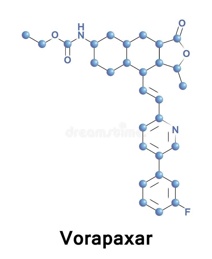 Ejemplo médico de Vorapaxar ilustración del vector