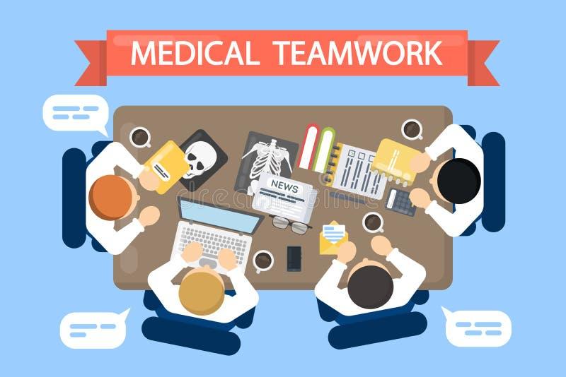 Ejemplo médico del trabajo en equipo ilustración del vector