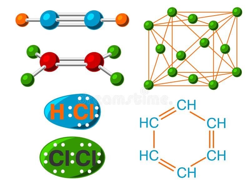 Ejemplo médico del vector de la fórmula de la microbiología de la biotecnología de la vida de la evolución de la estructura molec ilustración del vector