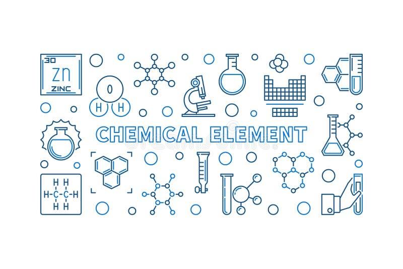 Ejemplo mínimo del esquema del concepto del vector del elemento químico ilustración del vector