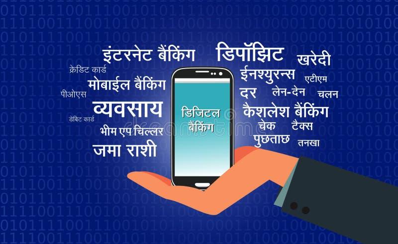 Ejemplo móvil del vector de las actividades bancarias
