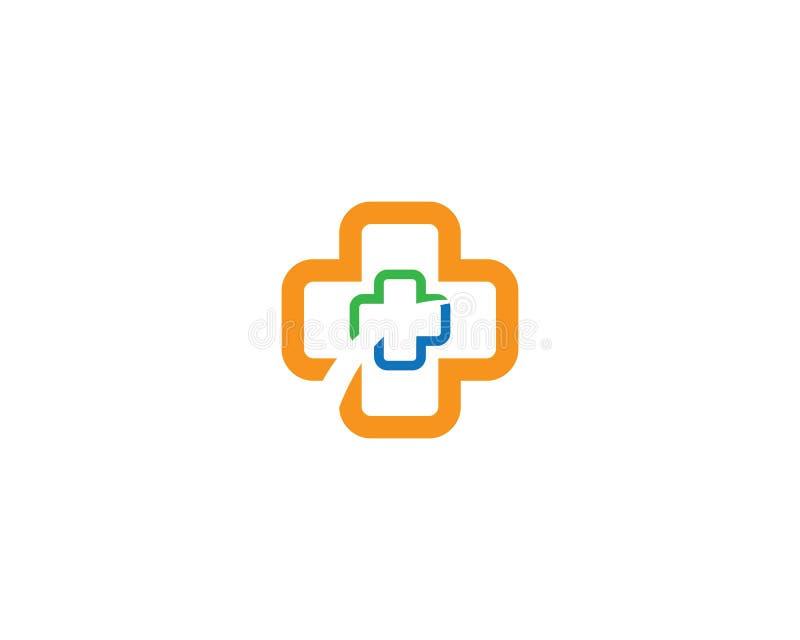 Ejemplo m?dico de la plantilla del logotipo stock de ilustración