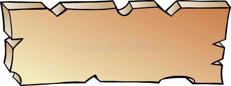 Ejemplo a mano del vector de un tablón