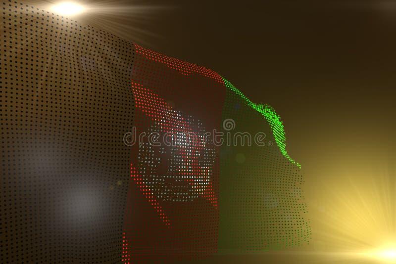 Ejemplo maravilloso de la bandera 3d del día del himno - la imagen digital de la bandera de Afganistán hizo de los puntos que agi libre illustration