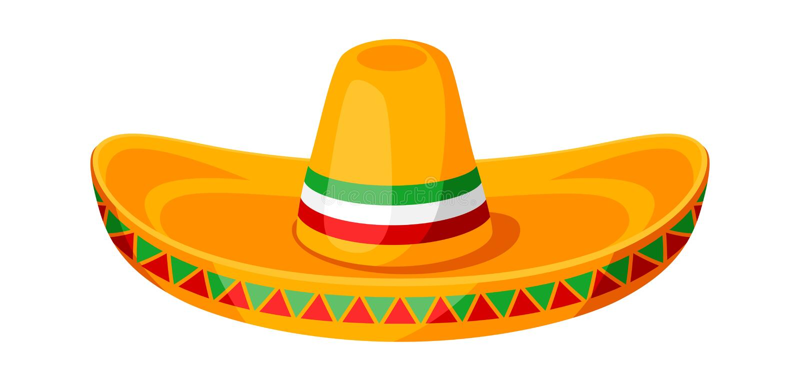 Ejemplo mexicano del sombrero del sombrero tradicional ilustración del vector