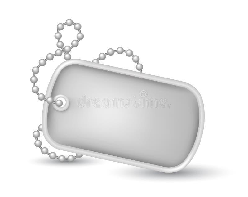 Ejemplo militar de las placas de identificación stock de ilustración