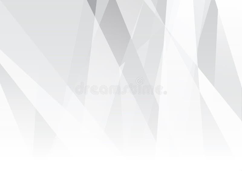 Ejemplo moderno abstracto del vector del dise?o del fondo de la tecnolog?a blanca y gris del color stock de ilustración