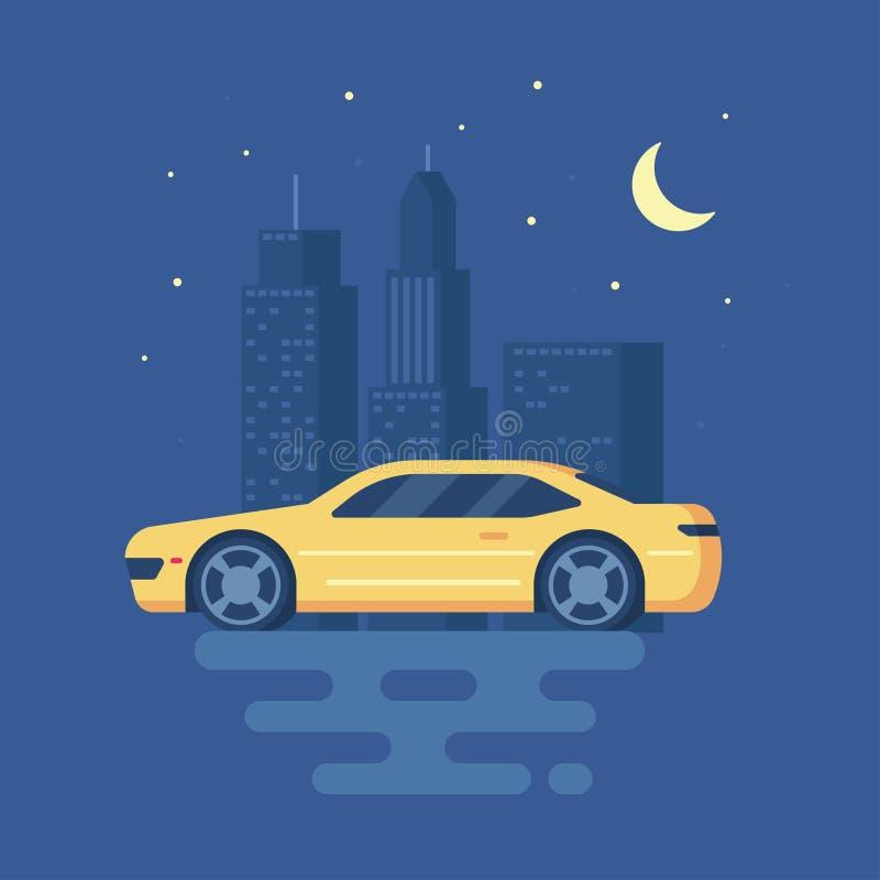 Ejemplo moderno aislado del vector del coche de deportes stock de ilustración