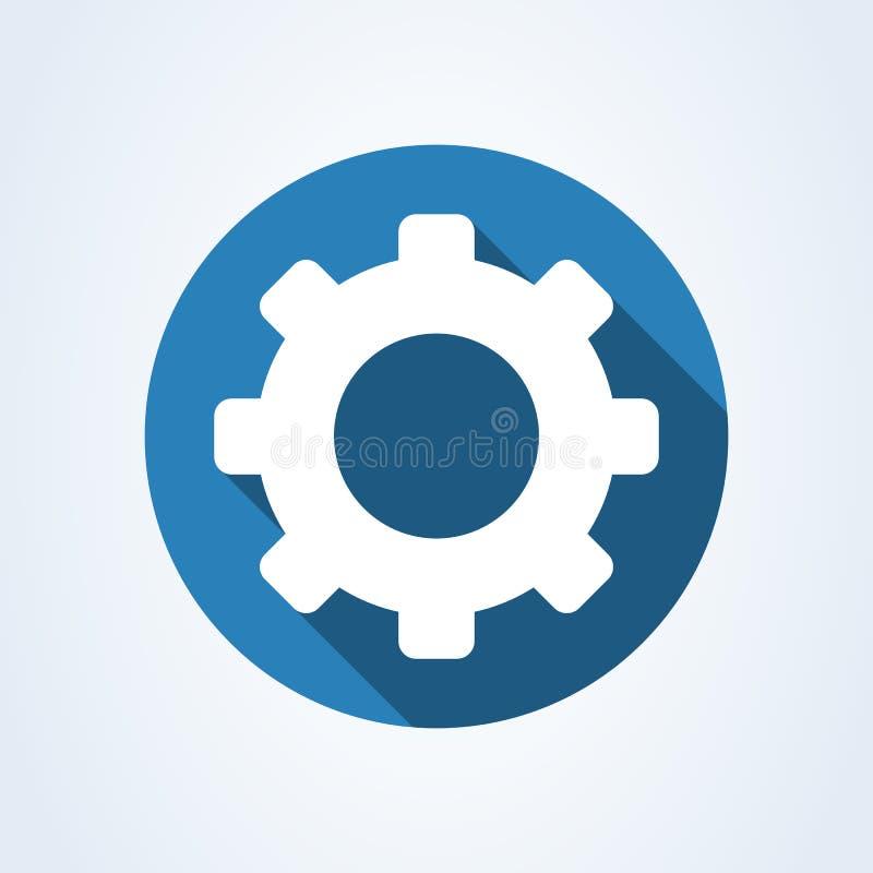 Ejemplo moderno del diseño del icono del vector simple del ajuste del engranaje stock de ilustración