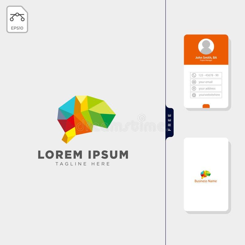 ejemplo molecular del vector de la plantilla del logotipo de la tecnología del cerebro, y diseño libre de la tarjeta de visita ilustración del vector