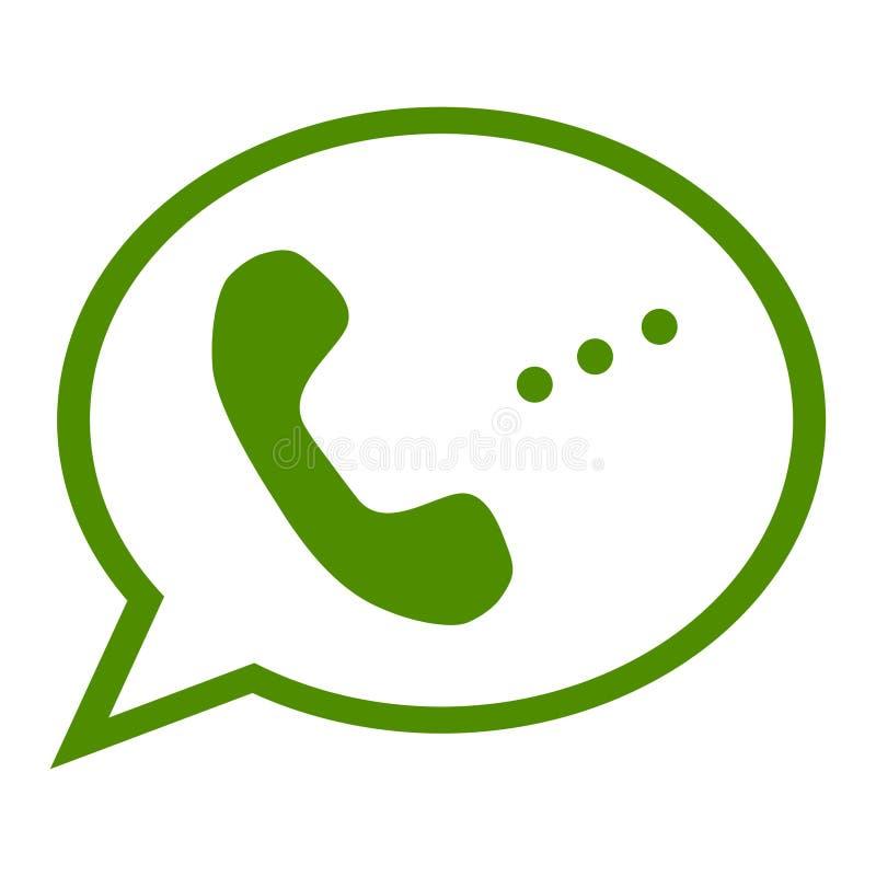 Ejemplo monocromático del vector de un icono del teléfono, aislado en un fondo blanco ilustración del vector
