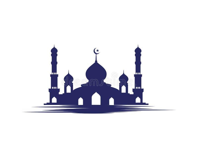 Ejemplo musulmán del vector del icono de la mezquita stock de ilustración