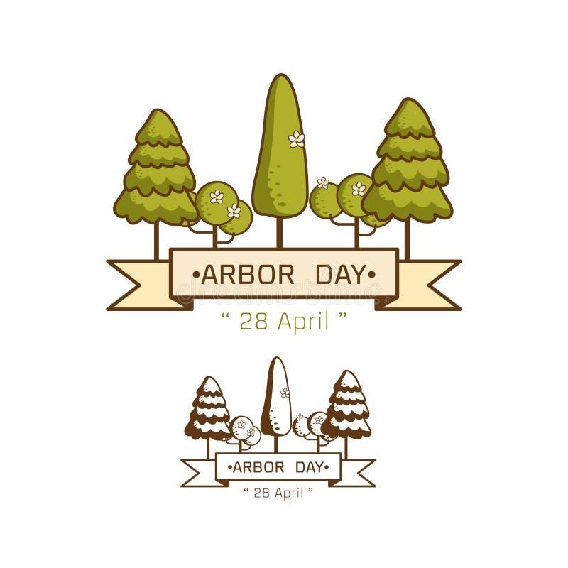 Ejemplo nacional del vector del día del árbol ilustración del vector