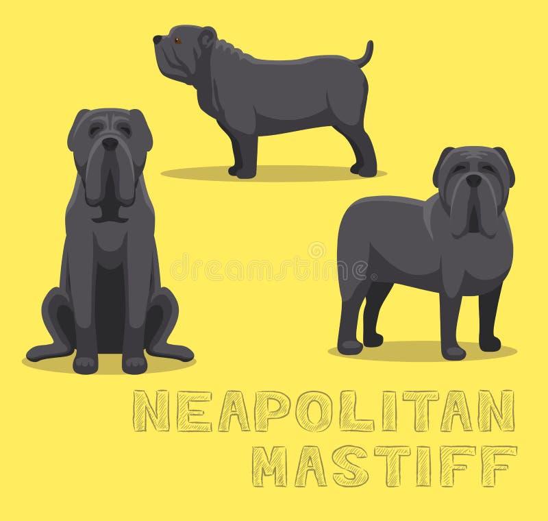 Ejemplo napolitano del vector de la historieta del mastín del perro libre illustration