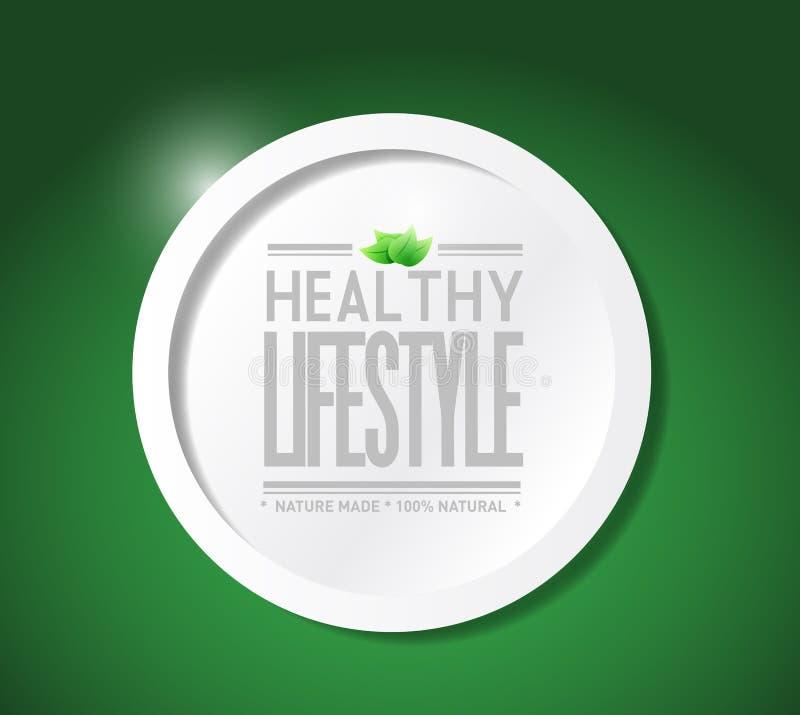 ejemplo natural de la comida de la forma de vida sana libre illustration