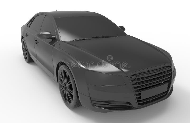 Ejemplo negro del coche del sedán ilustración del vector
