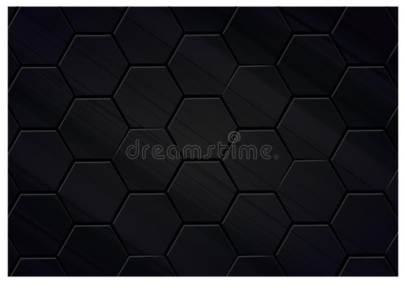 Ejemplo negro del fondo del polígono stock de ilustración