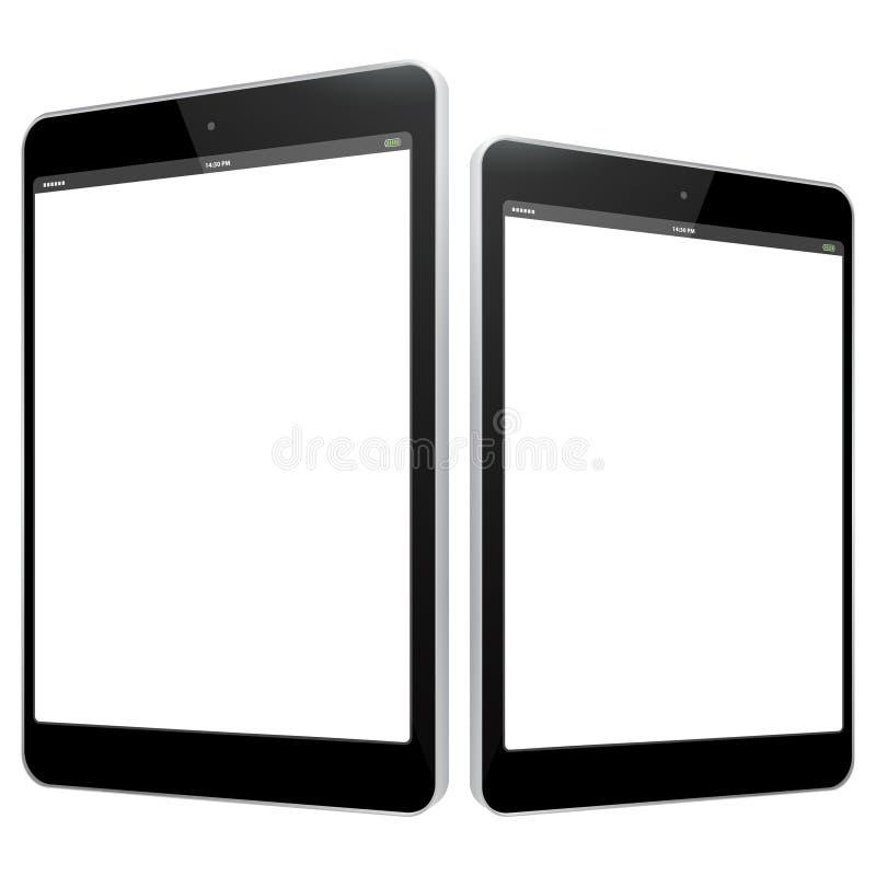 Ejemplo negro del vector de la tableta fotografía de archivo libre de regalías