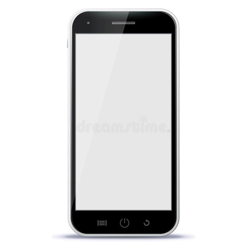 Ejemplo negro del vector del teléfono móvil imágenes de archivo libres de regalías