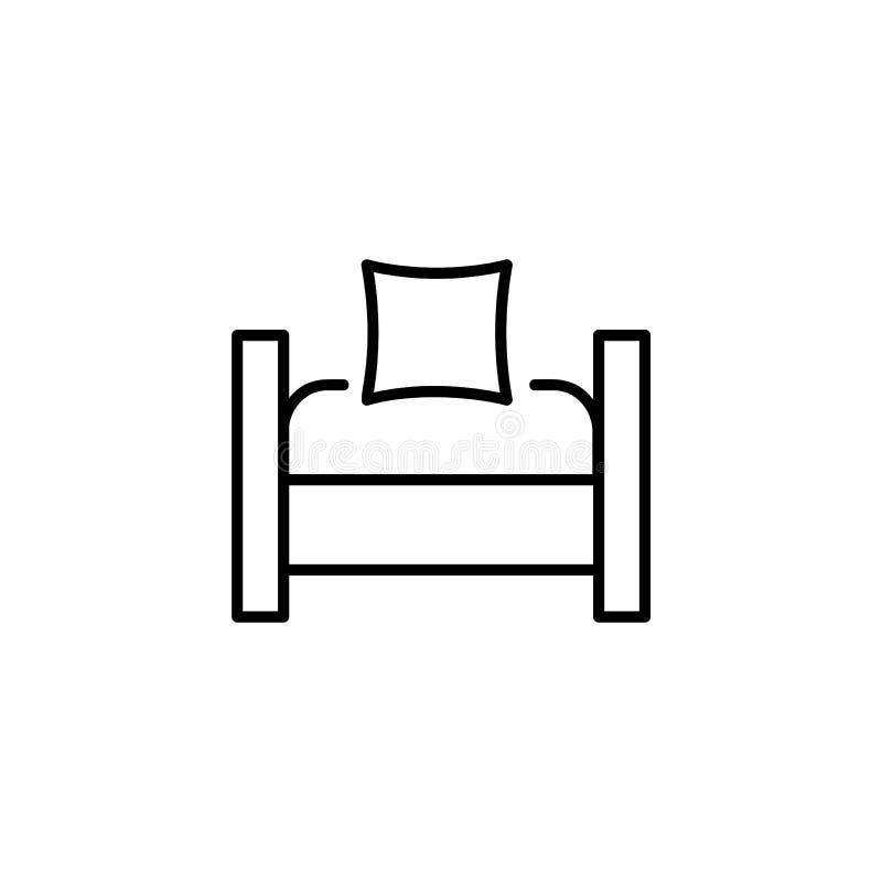 Ejemplo negro y blanco del vector de la silla del convertible del durmiente stock de ilustración