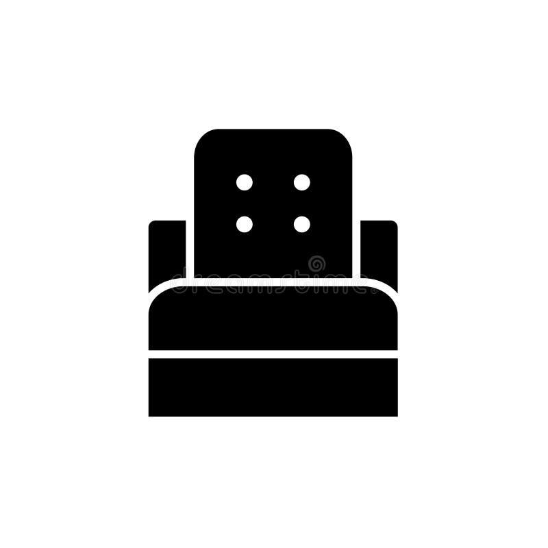 Ejemplo negro y blanco del vector de la silla del convertible del durmiente libre illustration