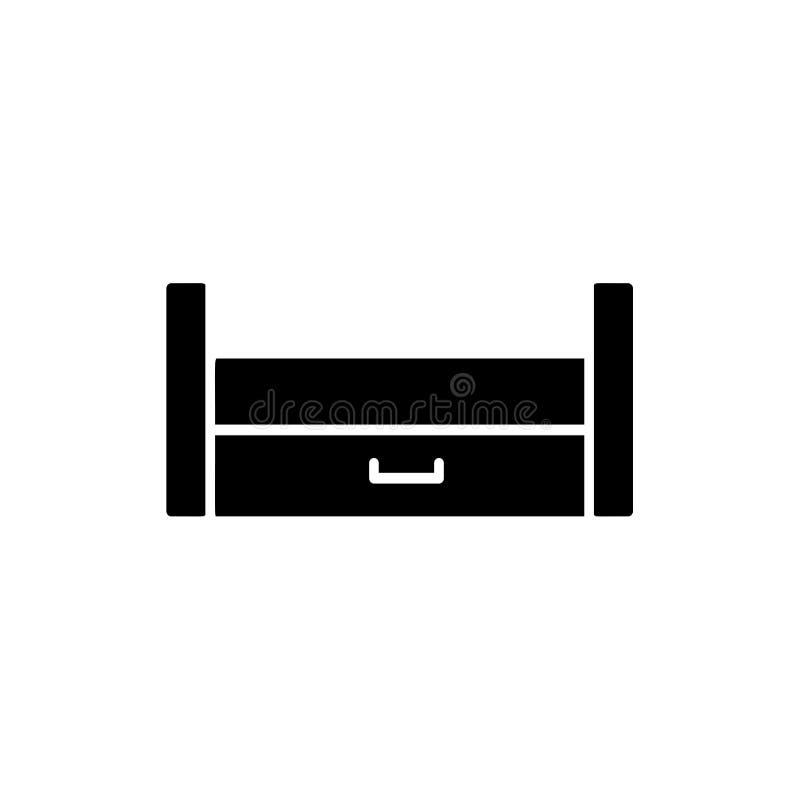 Ejemplo negro y blanco del vector del durmiente extraible de madera La Florida stock de ilustración
