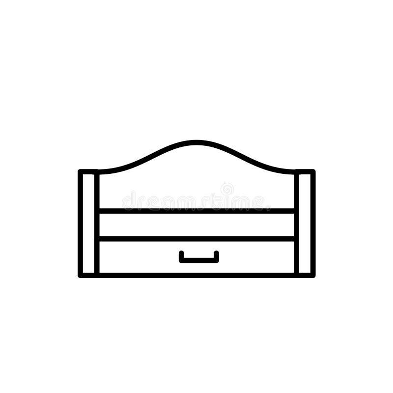 Ejemplo negro y blanco del vector del durmiente extraible de madera MES ilustración del vector