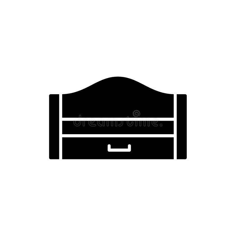 Ejemplo negro y blanco del vector del durmiente extraible de madera MES stock de ilustración
