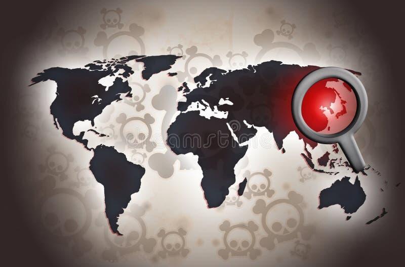 Ejemplo norcoreano del miedo del conflicto stock de ilustración