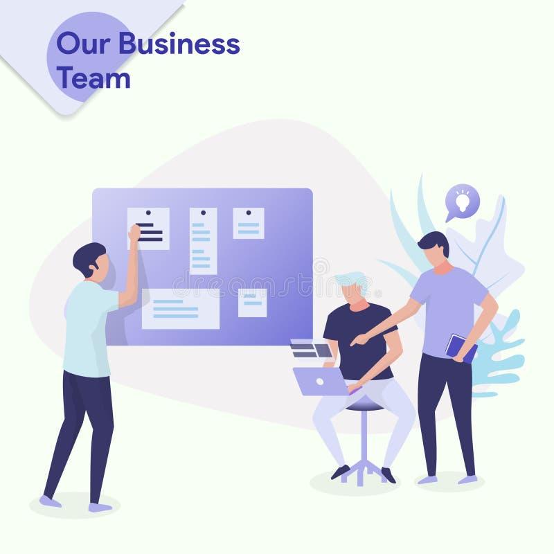 Ejemplo nuestro equipo del negocio stock de ilustración