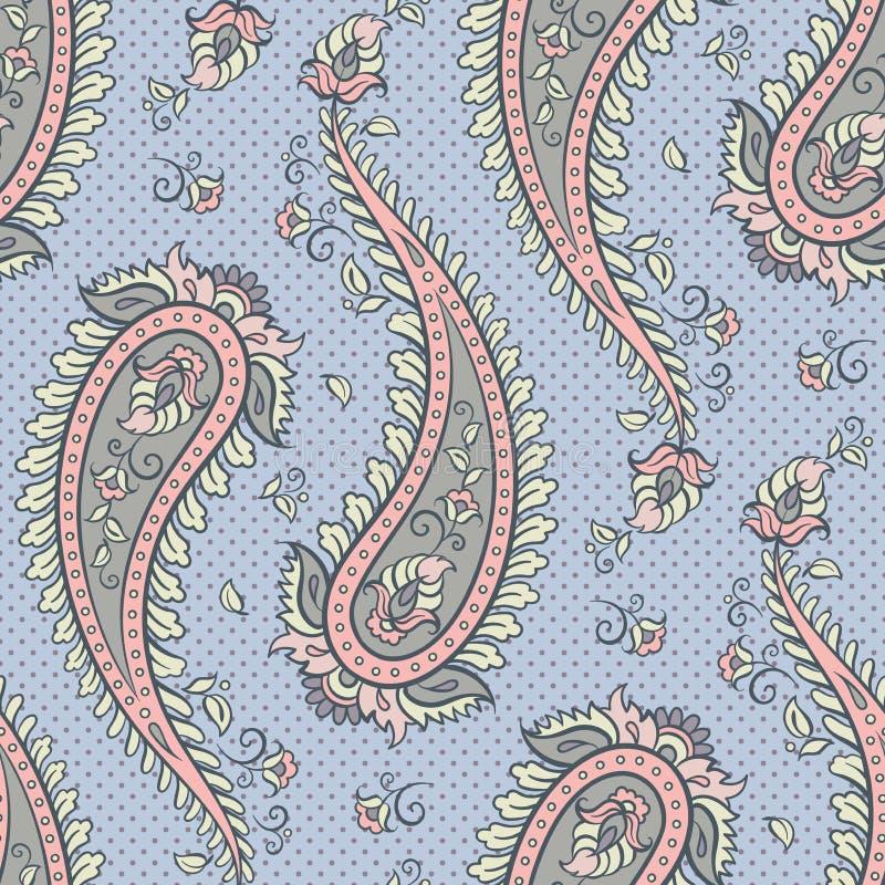 Ejemplo ornamental del vector del fondo de Paisley del modelo inconsútil stock de ilustración