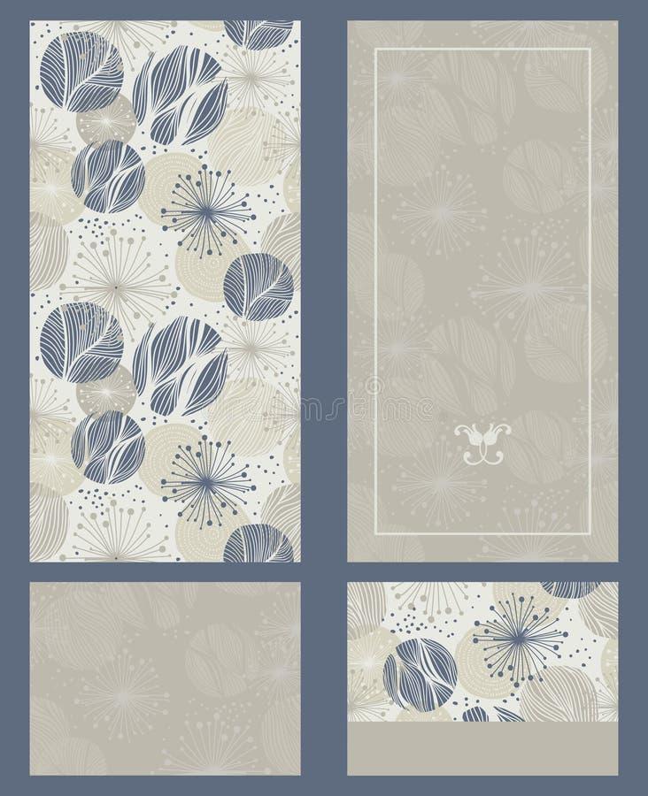Ejemplo ornamental del vintage para casarse las invitaciones, tarjetas de felicitación ilustración del vector