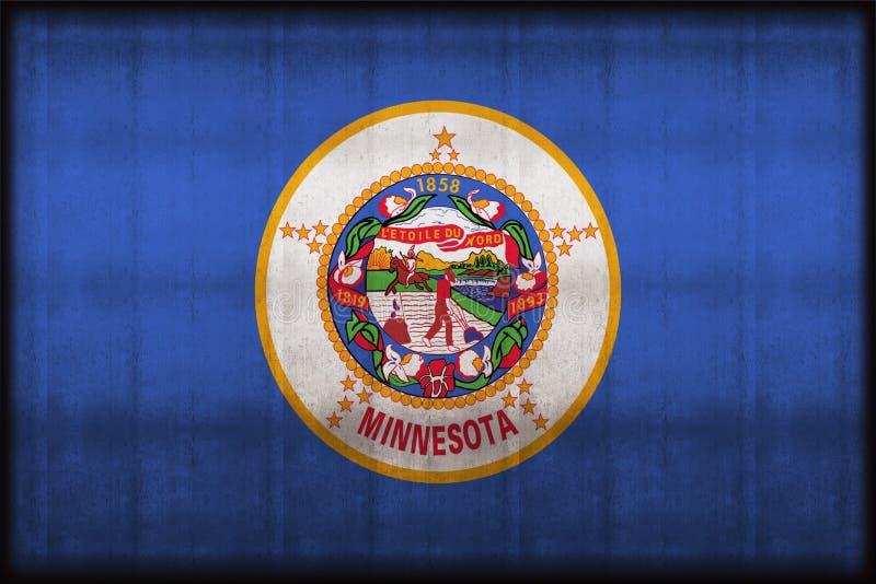 Ejemplo oxidado de la bandera de Minnesota ilustración del vector