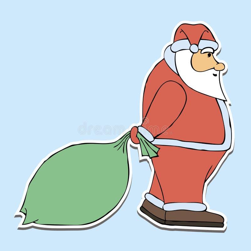 Ejemplo Papá Noel del día de fiesta de los niños ilustración del vector