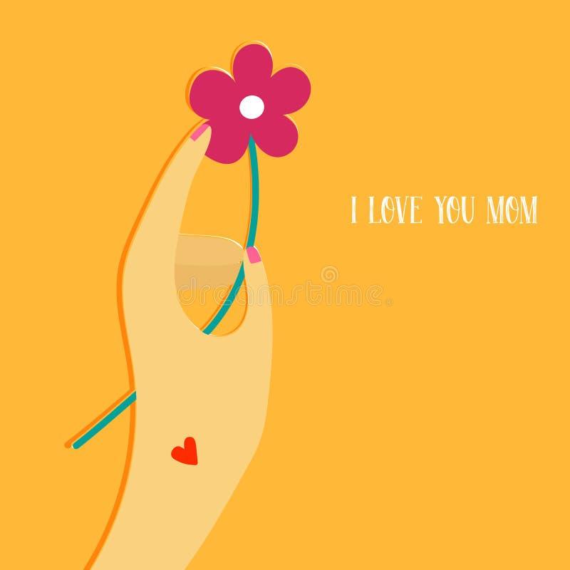 Ejemplo para el día de madres del día de fiesta stock de ilustración