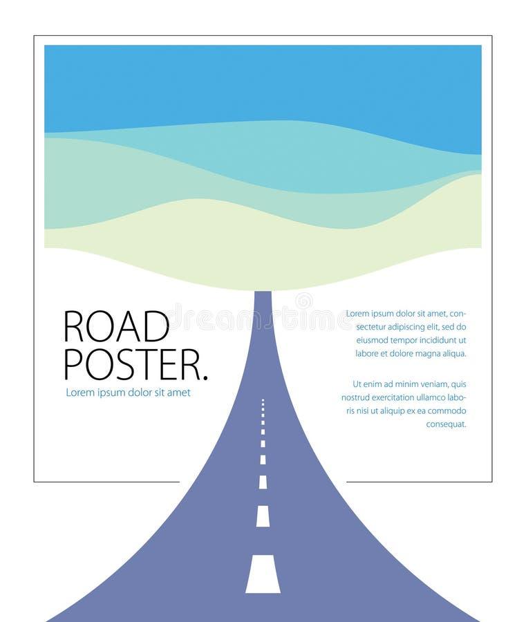 Ejemplo perfecto curvado carretera nacional del diseño del vector de la carretera ilustración del vector