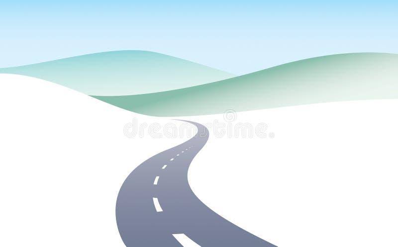 Ejemplo perfecto curvado carretera nacional del diseño del vector de la carretera libre illustration