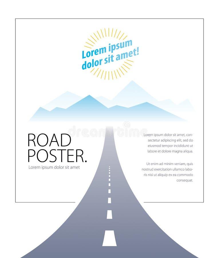 Ejemplo perfecto del diseño del vector de la carretera de la carretera nacional La manera stock de ilustración