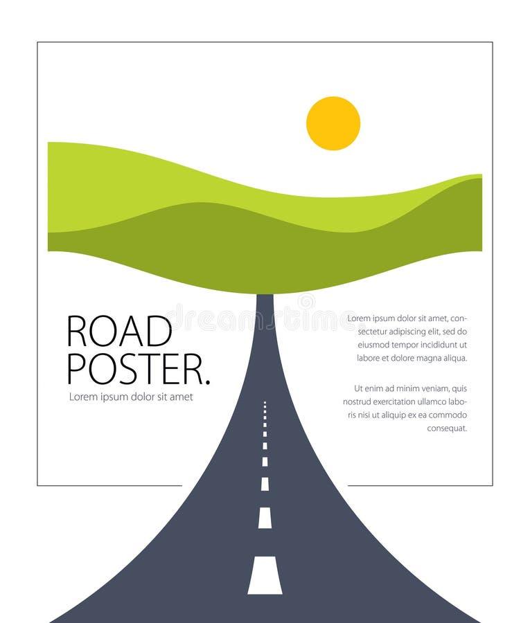 Ejemplo perfecto del diseño del vector de la carretera de la carretera nacional La manera ilustración del vector