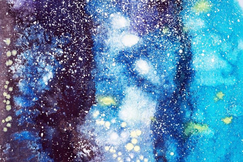 Ejemplo pintado a mano de la acuarela abstracta Las manchas blancas /negras coloridas texturizan el fondo libre illustration
