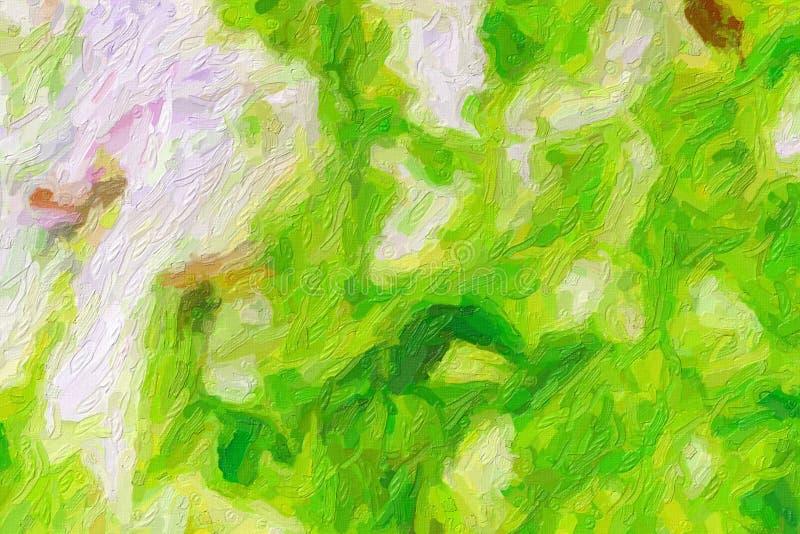 Ejemplo pintado a mano del arte de la pintura al ?leo colorida: textura abstracta en la lona, fondo stock de ilustración