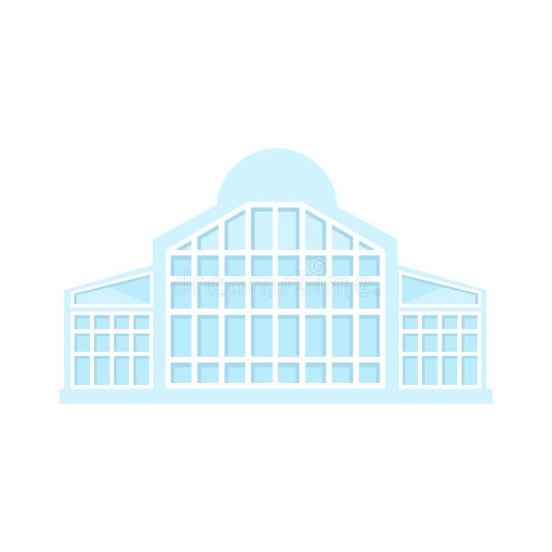 Ejemplo plano aislado plantilla de proyecto exterior moderna completa del diseño del edificio de la alameda de compras de la luz  ilustración del vector