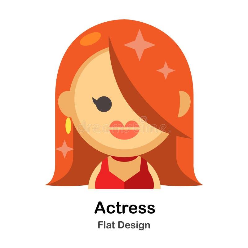 Ejemplo plano de la actriz libre illustration