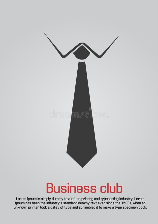Ejemplo plano de la corbata con no manual ilustración del vector