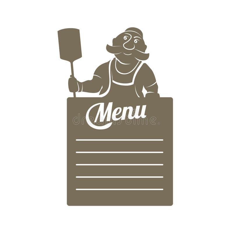 Ejemplo plano de la plantilla del menú stock de ilustración