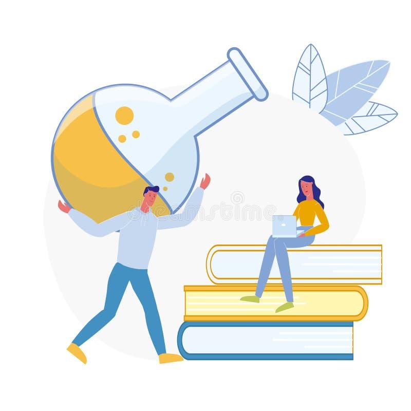 Ejemplo plano de la preparación de la lección de la química libre illustration