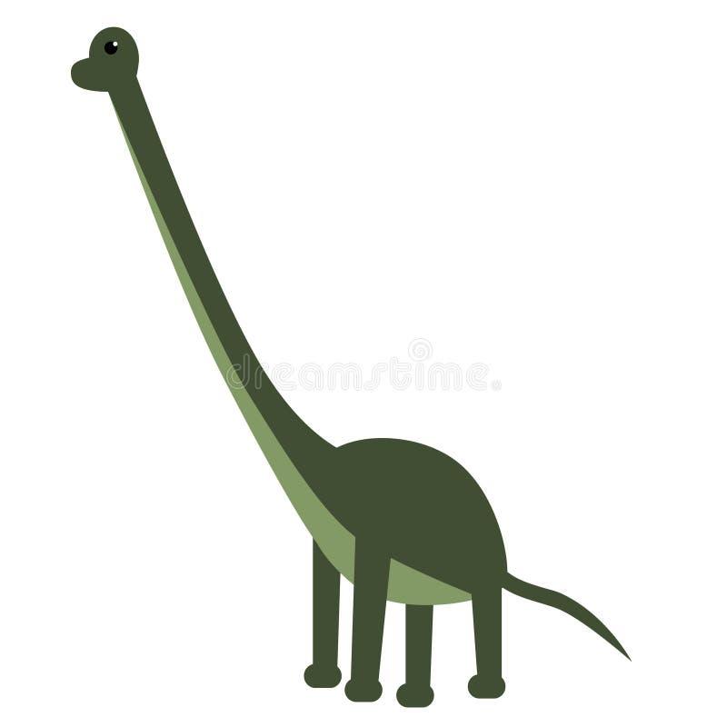 Ejemplo plano del Brachiosaurus en blanco libre illustration